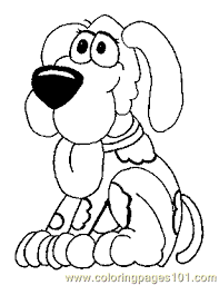 Small Picture Dog Puppy Coloring Page 01 Coloring Page Free Dog Coloring Pages