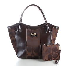 Coach Legacy Striped Monogram Medium Coffee Totes FDL ...
