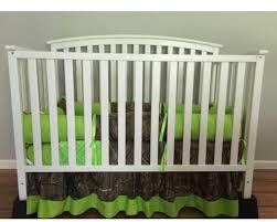 hunting camo 4pc crib bedding set lime green realtree