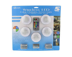 Capstone Lighting Remote Change Battery I Zoom Wireless Led Color Changing Push Lights With Remote Control 5 Pack Ideal For Holiday Mood Accent Special Event Lighting