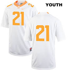 reid name. shanon reid nike tennessee volunteers authentic youth no. 21 stitched white college football jersey - no name t