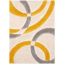 san francisco bevel yellow modern geometric abstract shapes 5 ft 3 in x 7