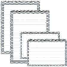Gray Polka Dot Chart Tablets 4pk Top3883