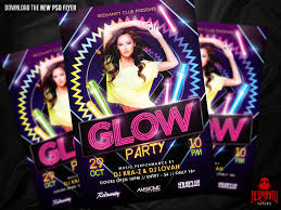 glow flyer glow party flyer psd template by iamredsanity on deviantart