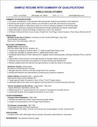 Summary Of Qualifications Resume Sample Professional Resume Summary Qualifications Resume Resume 4