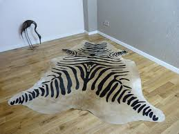 perfect zebra cowhide rug