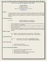 Resume Format For Freshers In Teaching Profession Resume For