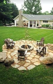 Patio Ideas: Stone Patio Ideas Pinterest Stepping Stones Out To The Fire  Pit In The