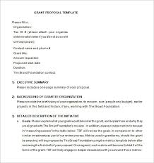 Grant Proposal Template 19 Free Sample Example Format