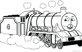 Thomas The Train Coloring Pages Free Printable The Train Coloring