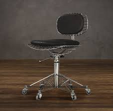 metal office chairs. beautiful metal 1950s french metal wire leather chair cushion eclectic office inside  picking the best  and metal office chairs e