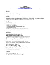 Qa Analyst Cover Letter Quality Control Resume Corol Lyfeline Co
