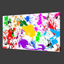 image is loading paint splatter abstract premium canvas print wall art