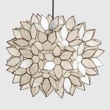 capiz chandelier world market with large lotus pendant shade7 home design shadef 359