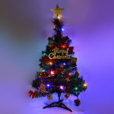 Mini Christmas Tree With Lights And Decorations Details About 2 Ft Tabletop Artificial Small Mini Christmas Tree With Led Light Ornaments