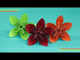 Paper Flower Folding Paper Flower Folding Easy And Clear Tutorial Folding