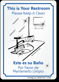 Bathroom Clean Signs  XtremewheelzcomPrintable Keep Bathroom Clean Signs