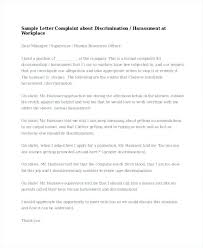 Letter Of Complain Template Harassment Complaint Template Hr Letter Templates Free