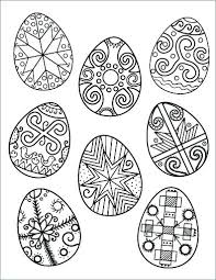 Easter Eggs Colouring Pages To Print Egg Coloring Page Printable Egg