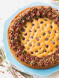 the best homemade chocolate chip cookie cake with chocolate fudge frosting ultra soft