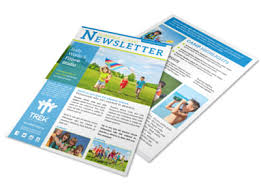 Newsletters Templates Classic Summer Camp Newsletter Template