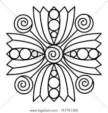 simple mandala flower design for coloring book pages doodle fl pattern in bold print