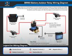 nvx bir80 80 amp relay and battery isolator bir80 jpg