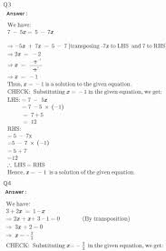 linear equations in one variable worksheet awesome rs aggarwal solutions for class 7th maths linear equations