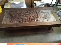 coffee table hand carved stunning picture concept