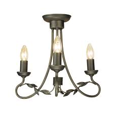 elstead olivia 3 light chandelier black
