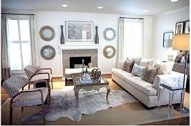 cowhide rug decor living room ideas a grey brindle on brazil