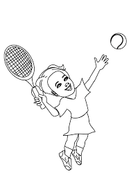 Tennis Coloring Pages Books 100 Free And Printable