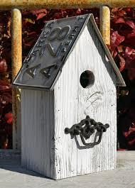 Rustic Birdhouses Rustic Birdhouse Primitive Birdhouse Recycled License Plates