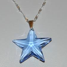 sterling silver swarovski crystal star pendant in gift box size chain approximately 18 crystal swarovski crystal necklace sapphire