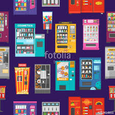 Vending Machine Background Extraordinary Vending Machine Vector Vend Food Or Beverages And Vendor Machinery