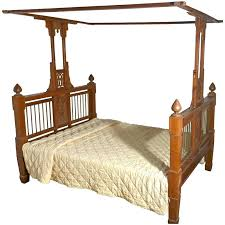 Colonial Style Antique Four Poster Double Bed, 19th Century Raj Bed ...