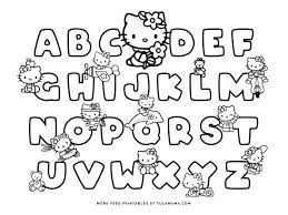 They love hello kitty coloring pages as these allow them to spend some quality time with their favorite cute bobcat while playing with colors and shades. Free Hello Kitty Printables And Abc Coloring Pages Tulamama