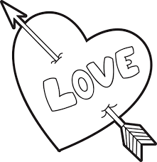 Cupidon in pages adults zen anti stress curves tunels and hearts. Printable Valentine Heart Coloring Page For Kids Supplyme