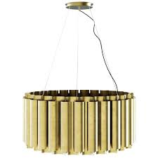 ii round pendant light in matte hammered brass for green glass id f