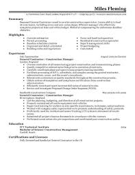 ... Homely Idea Contractor Resume 4 Best General Contractor Resume Example  ...