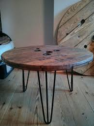 hairpin coffee table legs fresh wooden desk used lovely upcycled electric cable reel now coffee