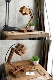 Office Wooden Diy Led Desk Lamp Chandeliers Wooden Desk Lamp