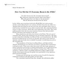 how far did the us economy boom in the s gcse history  document image preview