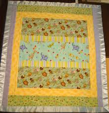 Quilt-As-You-Go Reversible Crib Quilt & Wild Animals Reversible Baby Quilt - Side 2 ·