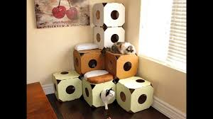 cat house cat toys diy from cardboard boxes