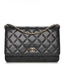 CHANEL Caviar Quilted Wallet On Chain WOC Black 218507 &  Adamdwight.com