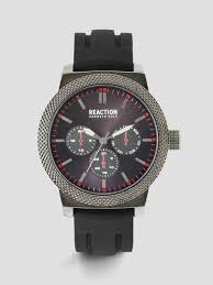 kenneth cole men s smart watches automatic watches leather multi functional black gunmetal watch