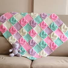Patterned Blankets Awesome 48 Heart Baby Blanket Knitting Pattern The Funky Stitch