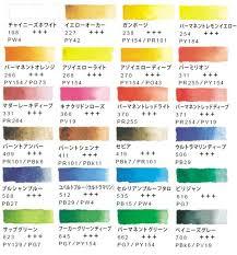Van Gogh Watercolors Color Chart 2019