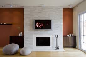 wall mounted fireplace ideas living room contemporary with